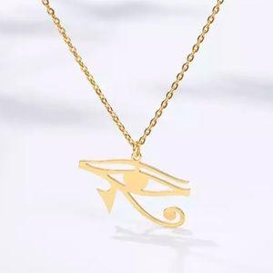 Eye of Horus Necklace Egyptian Gold